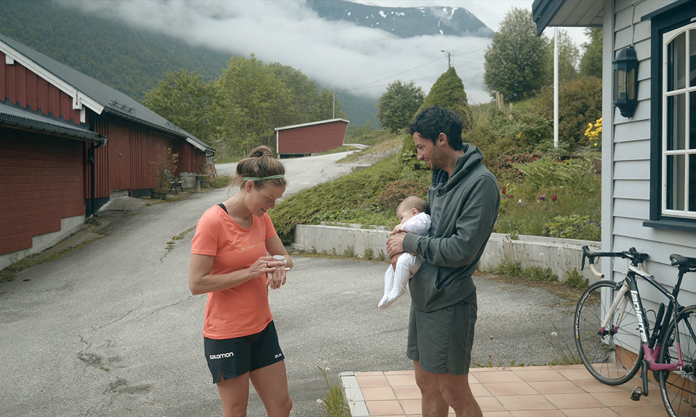 After nine months of pregnancy, resting and recovering after birth, Suunto ambassador Emelie Forsberg is training and racing again in the mountains and fjords of Norway.